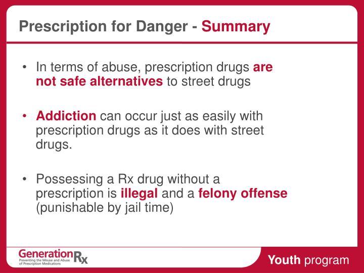 Prescription for Danger -
