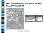 map of railroads of the south of rfe nec dprk and rk
