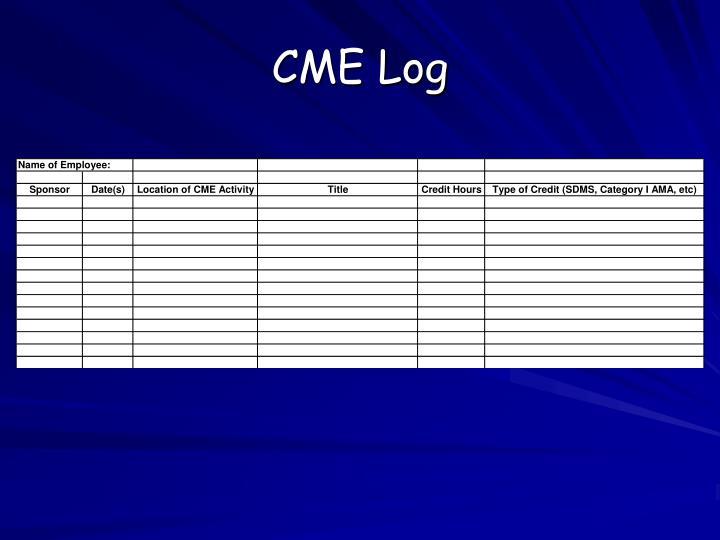 CME Log