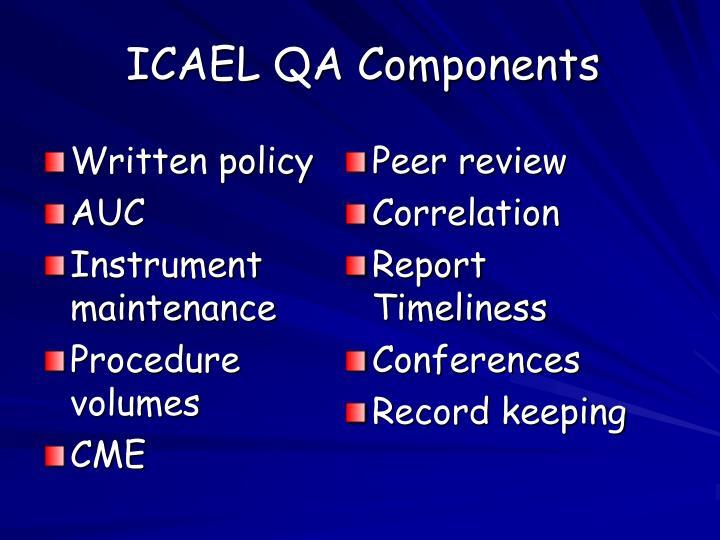 ICAEL QA Components