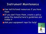 instrument maintenance1