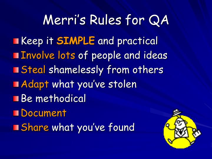 Merri's Rules