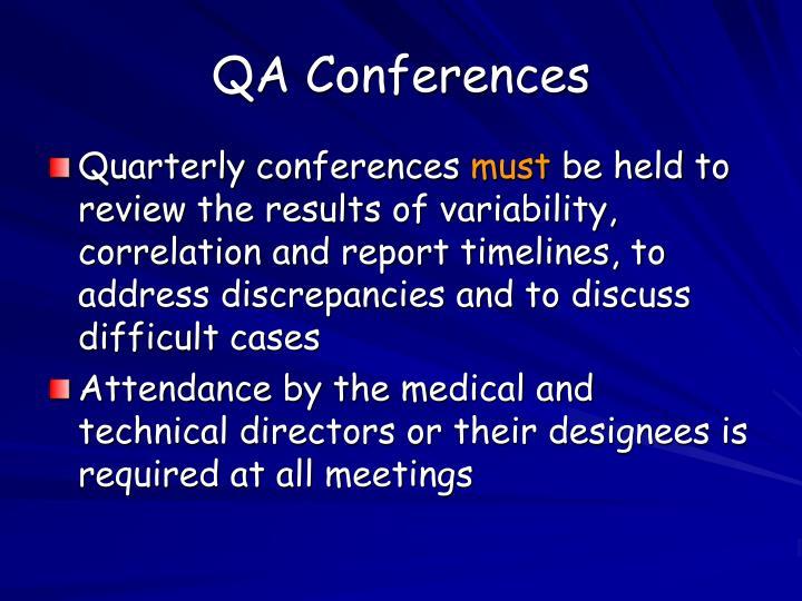 QA Conferences
