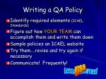 writing a qa policy