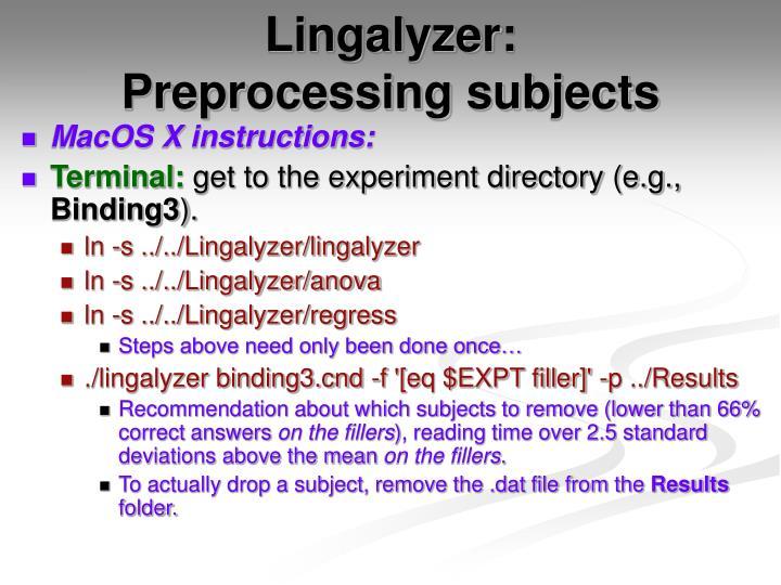 Lingalyzer: