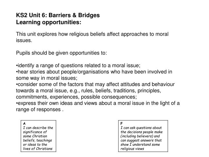 KS2 Unit 6: Barriers & Bridges