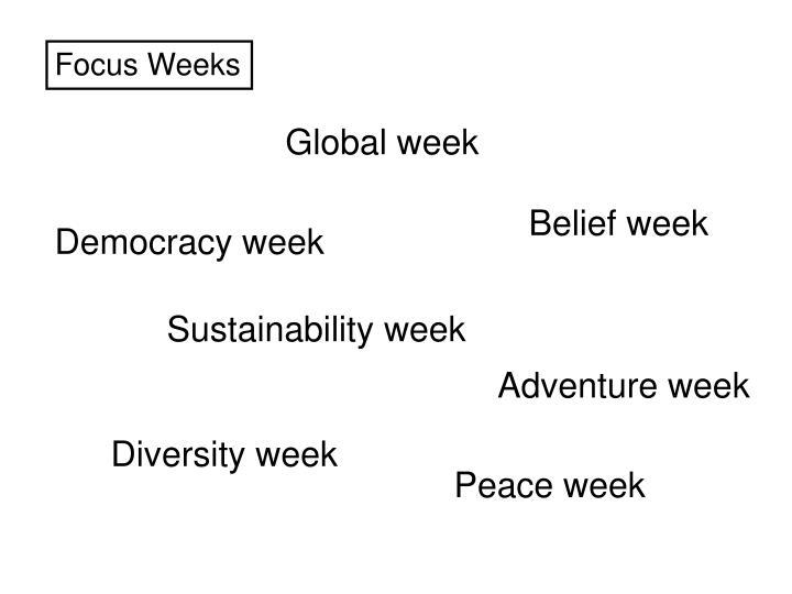 Focus Weeks