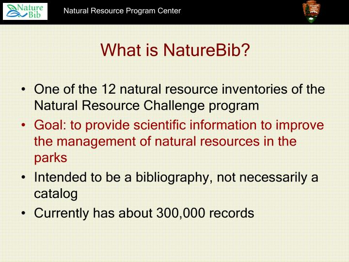 What is NatureBib?