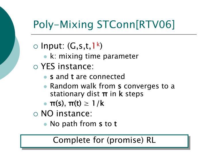 Poly-Mixing STConn[RTV06]