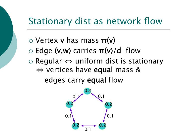 Stationary dist as network flow