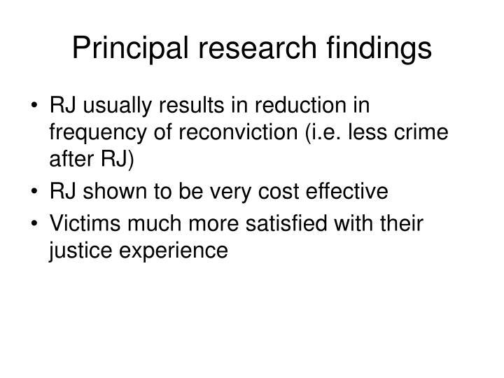 Principal research findings