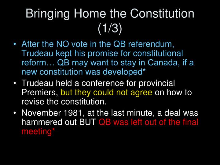 Bringing Home the Constitution (1/3)