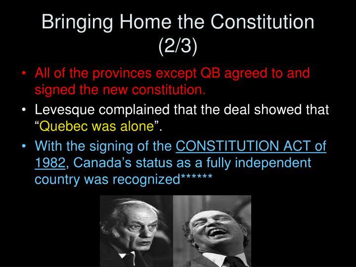 Bringing Home the Constitution (2/3)