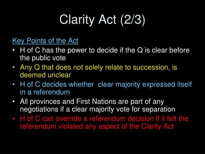 Clarity Act (2/3)