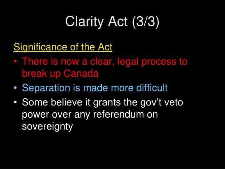 Clarity Act (3/3)
