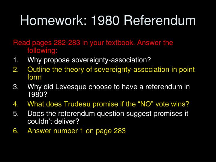 Homework: 1980 Referendum
