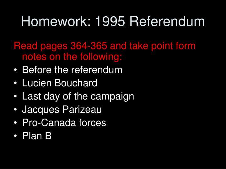 Homework: 1995 Referendum