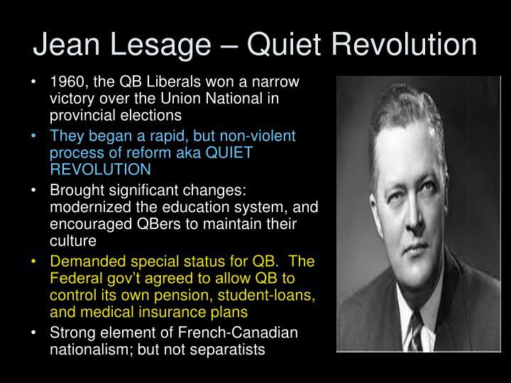 Jean Lesage – Quiet Revolution