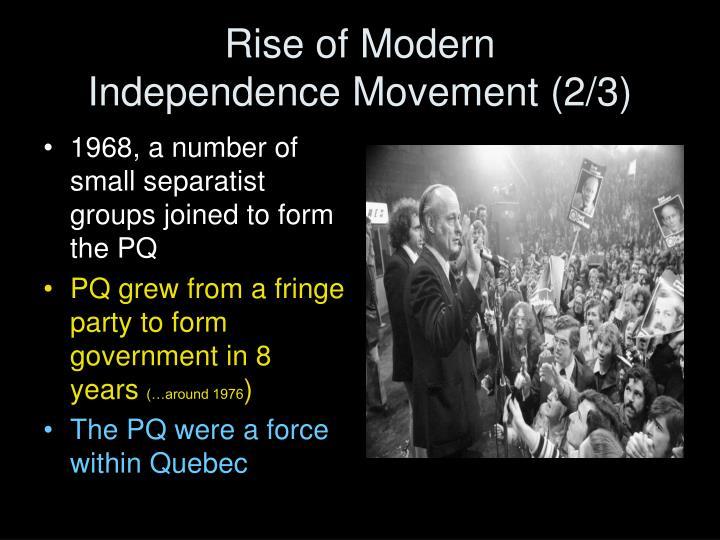 Rise of Modern