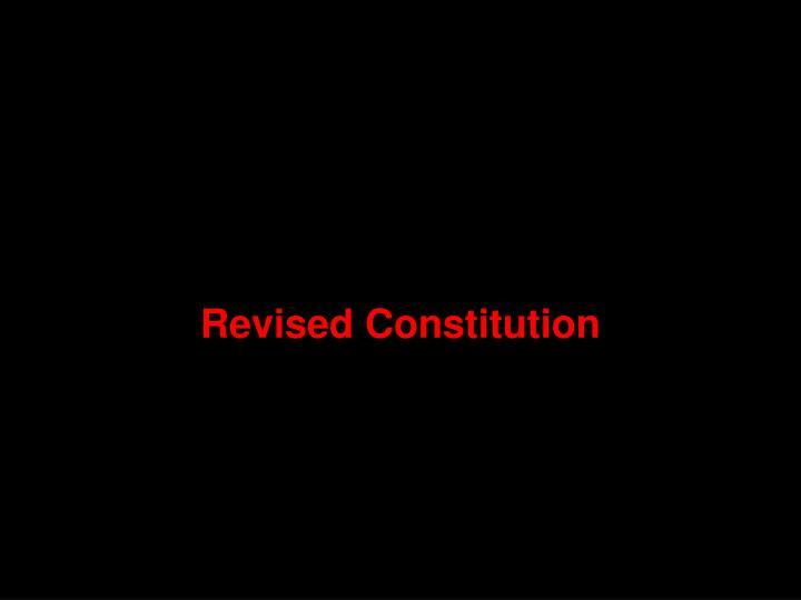 Revised Constitution