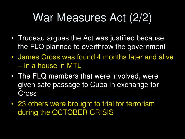 War Measures Act (2/2)