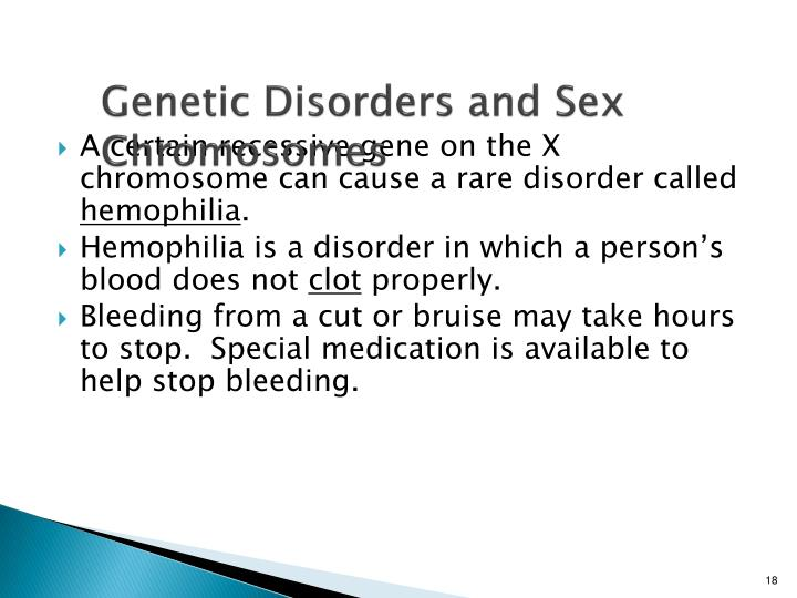 Genetic Disorders and Sex Chromosomes