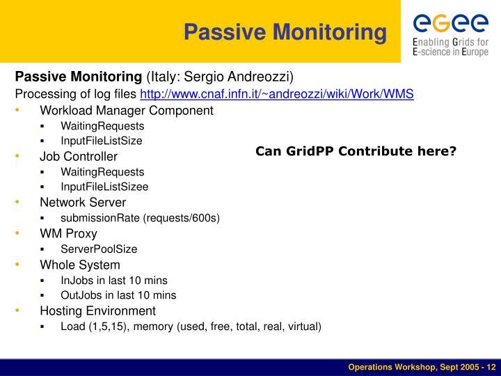 Passive Monitoring