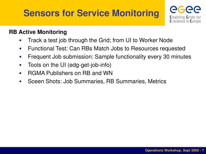 Sensors for Service Monitoring