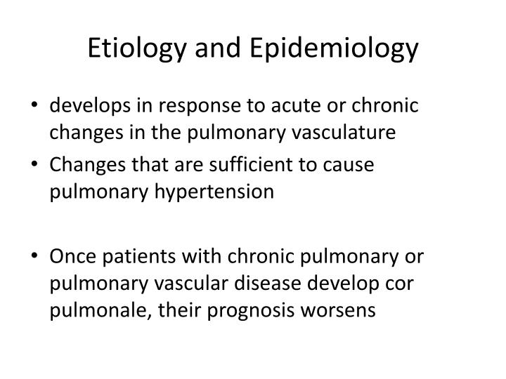 Etiology and epidemiology