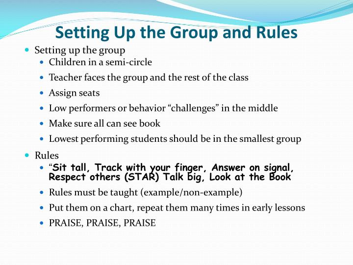 Setting Up the Group and Rules