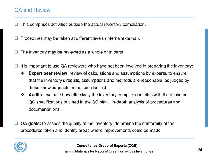 QA and Review