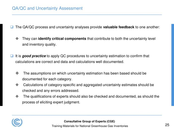 QA/QC and Uncertainty Assessment