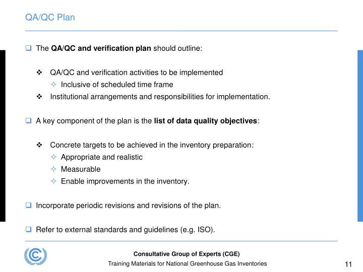 QA/QC Plan
