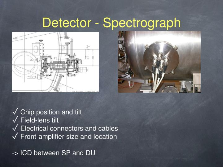 Detector - Spectrograph