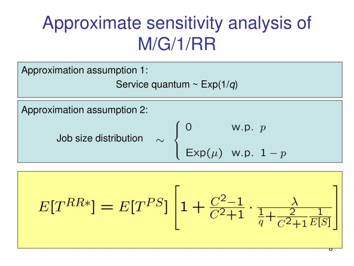 Approximate sensitivity analysis of M/G/1/RR