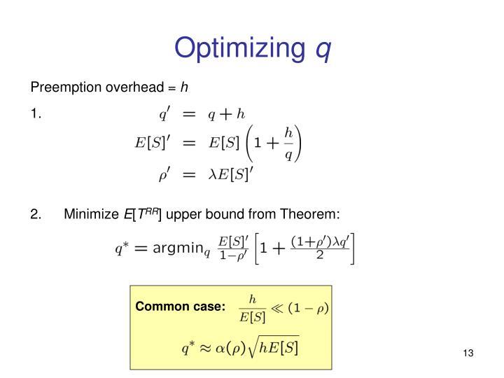 Optimizing