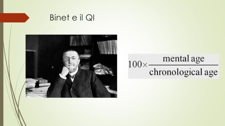 Binet e il QI