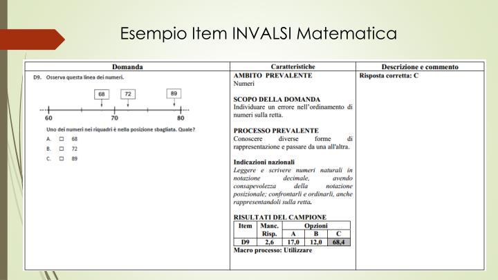 Esempio Item INVALSI Matematica