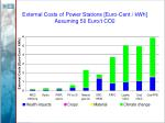 external costs of power stations euro cent kwh assuming 50 euro t co2