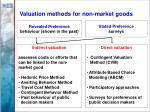 valuation methods for non market goods