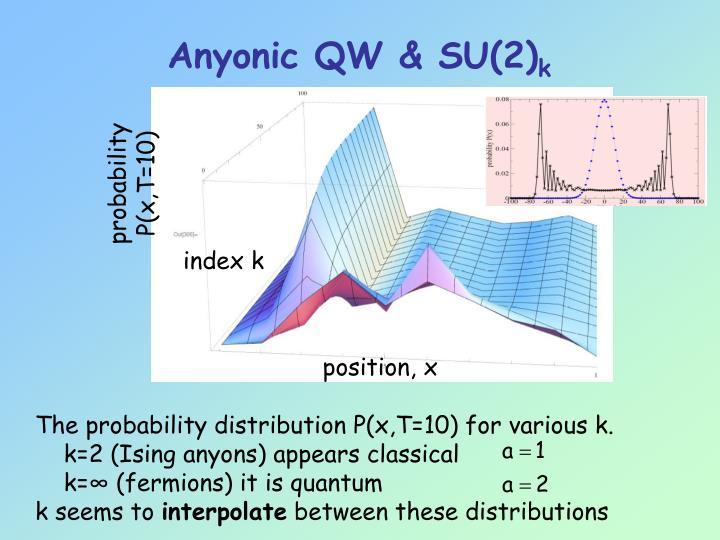 Anyonic QW & SU(2)