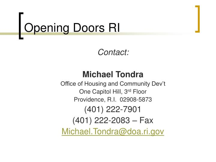 Opening Doors RI