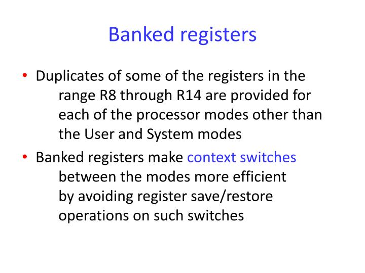 Banked registers