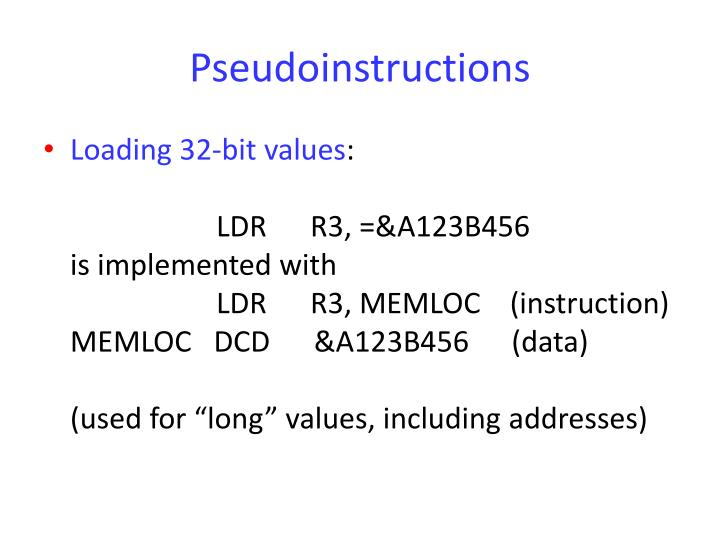 Pseudoinstructions