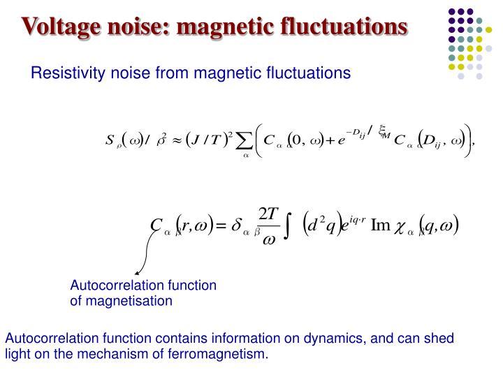 Voltage noise: m