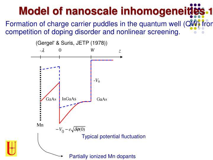 Model of nanoscale inhomogeneities