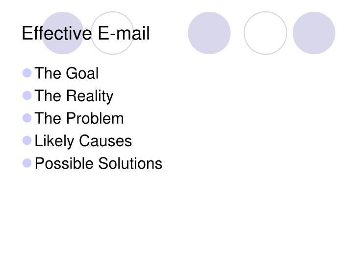 Effective E-mail