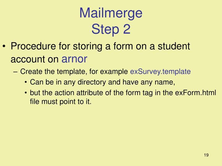 Mailmerge
