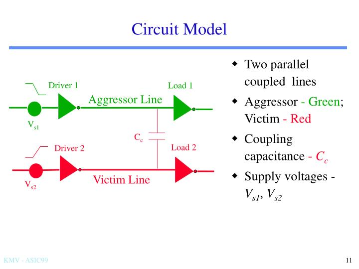 Two parallel coupled  lines