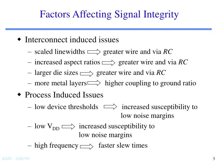 Factors Affecting Signal Integrity